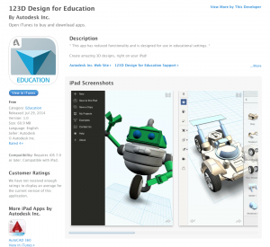 123D Design for Education